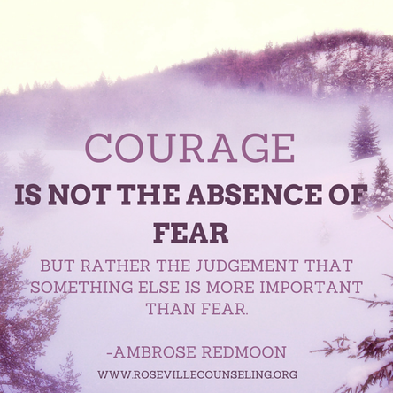 Inspirational quote: Courage